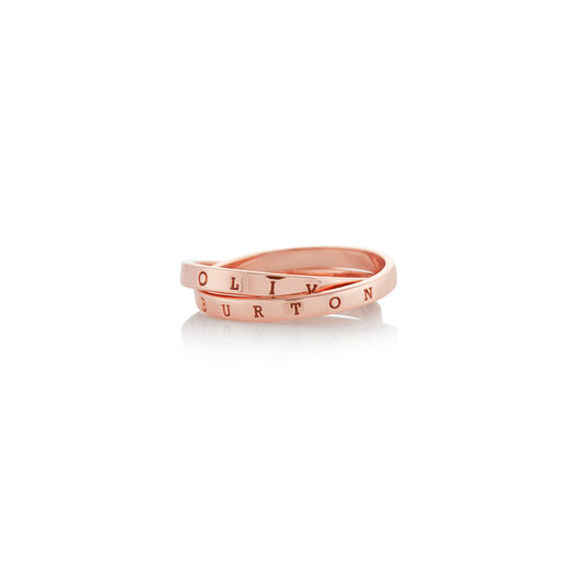 The Classics Interlink Ring Rose Gold S