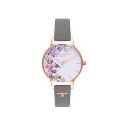 Enchanted Garden Grey & Rose Gold Watch