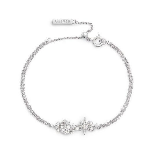 Celestial Silver Cluster Chain Bracelet