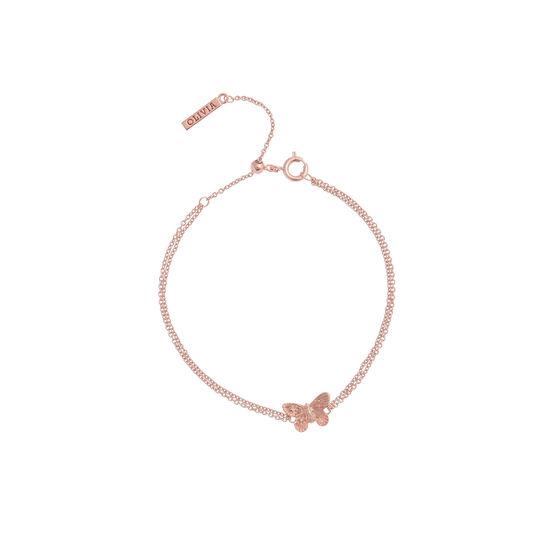 3D Butterfly Chain Bracelet Rose Gold