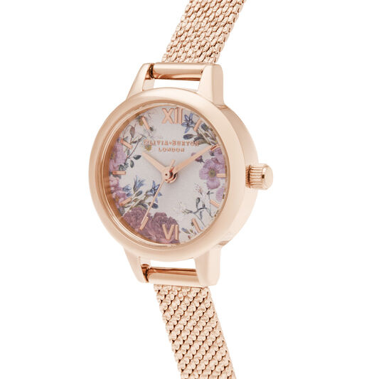 British Blooms Mini Dial Rose Gold Bracelet Watch