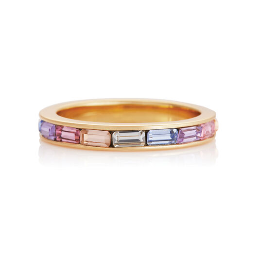 Rainbow Baguette Ring Gold (L)