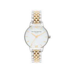 Midi Dial White Dial Gold & Silver Bracelet Watch