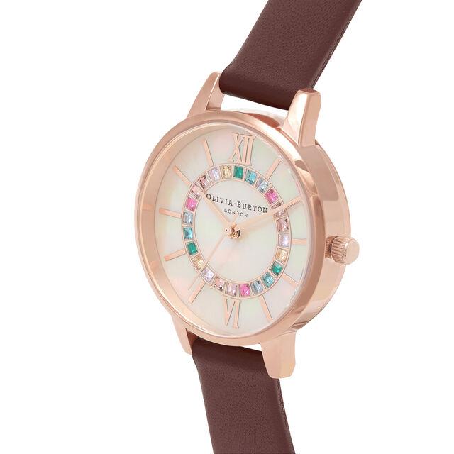 Sparkle Wonderland Blush Midi Dial, Burgundy & Rose Gold Watch