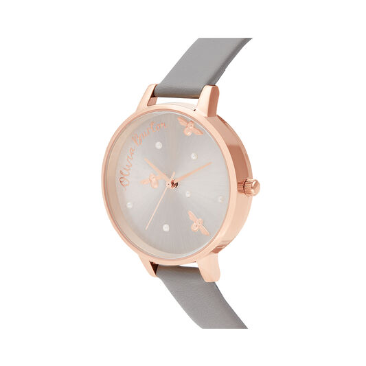 Pearly Queen Vegan London Gray & Rose Gold