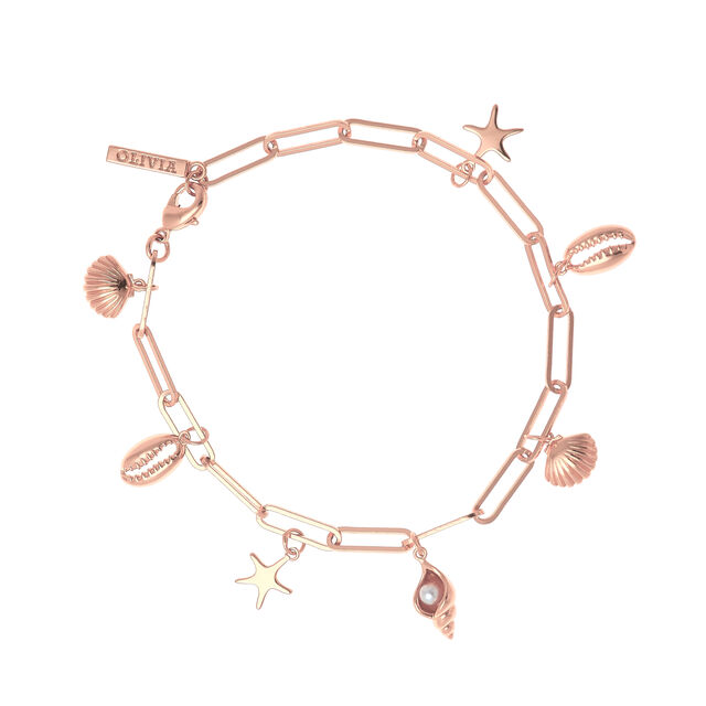 Under The Sea Rose Gold Charm Bracelet