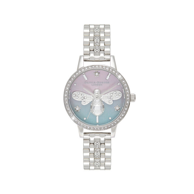 Sparkle Bee Ombre Midi Dial Silver Sparkle Watch