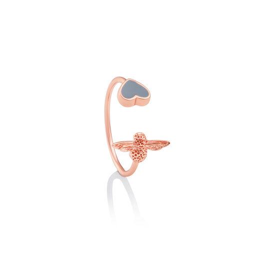 Love Bug Ring Grey & Rose Gold