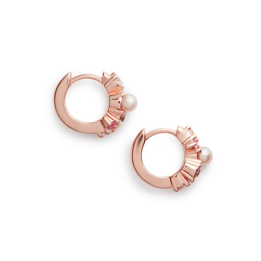 Under The Sea Bubble Huggie Hoops Rose Gold