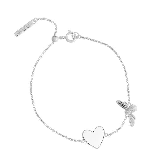 You Have My Heart White and Silver Bee Chain Bracelet