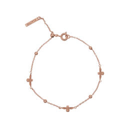 3D Bee & Ball Chain Bracelet Rose Gold