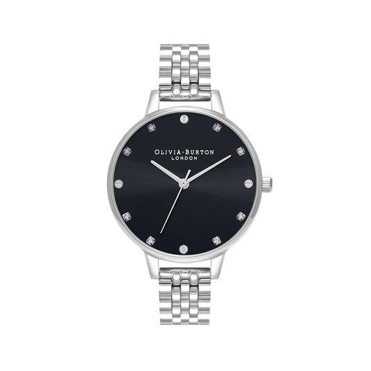 Classic Demi Dial Black & Silver Bracelet Watch