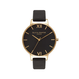 Big Dial Black And Gold Watch