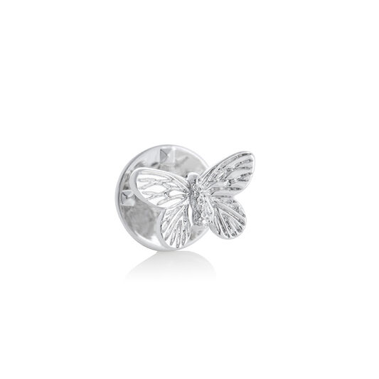 3D Butterfly Pin Silver