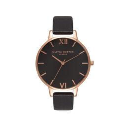 Big Dial Black & Rose Gold Watch
