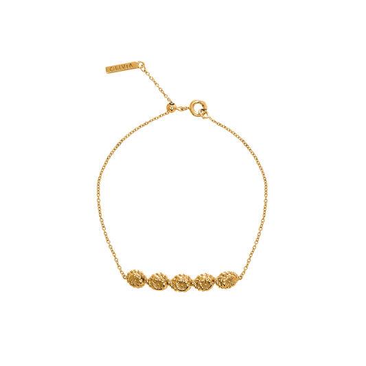 Flower Show Rope Chain Bracelet Gold