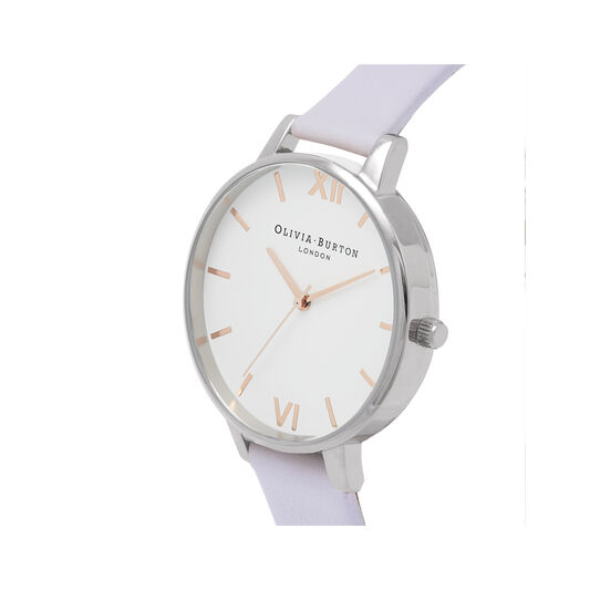 White Dial Parma Violet, Rose Gold & Silver