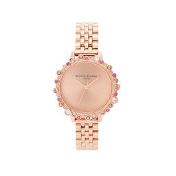 Limited Edition Bejewelled Case Watch, Rose Gold Bracelet