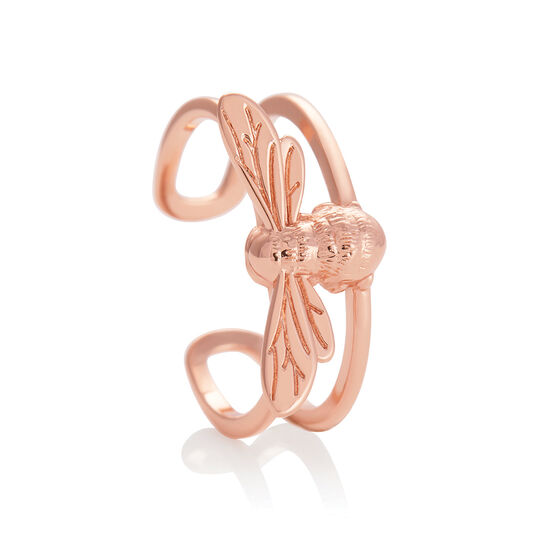 Lucky Bee Ring Rose Gold