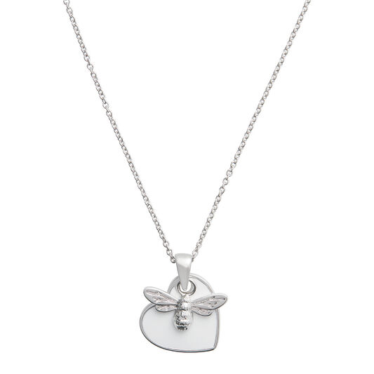 You Have My Heart Necklace White & Silver
