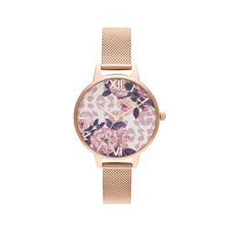 Wildflower Pale Rose Gold Mesh