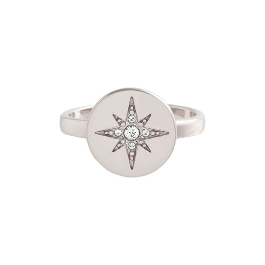 North Star Disc Opal & Silver Ring