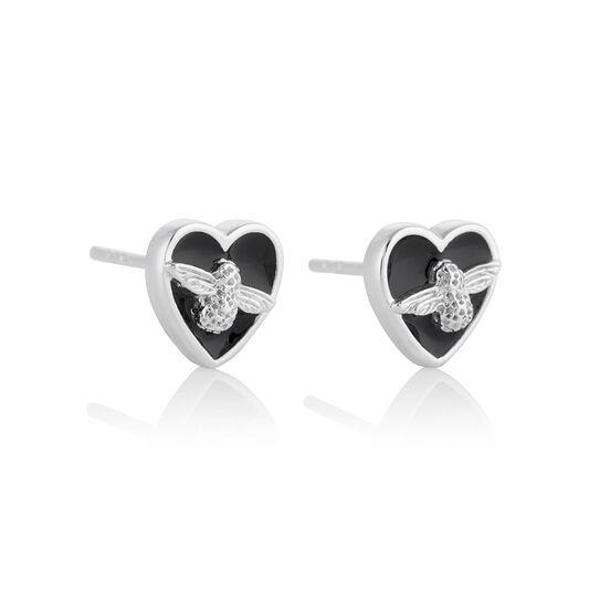 Love Bug Studs Black & Silver