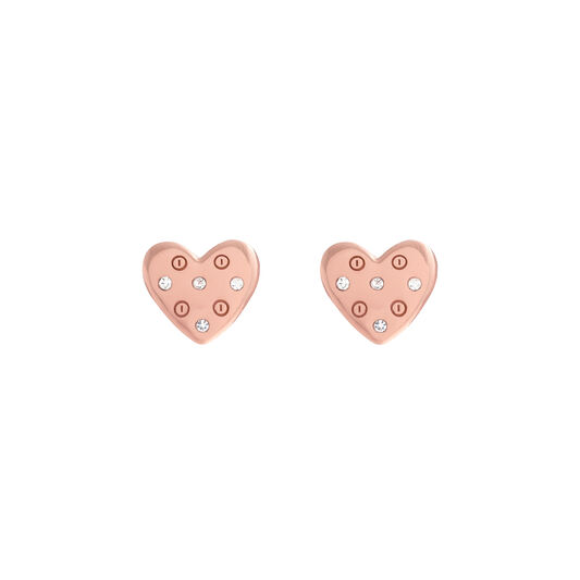 Classic Heart Rose Gold Studs