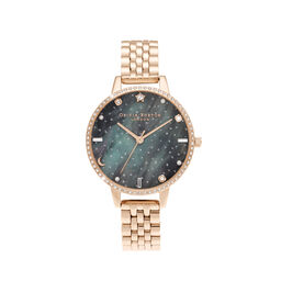 Northern Lights Demi Dial Rose Gold Bracelet Watch