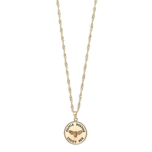 Lucky Bee Coin Gold Pendant Necklace