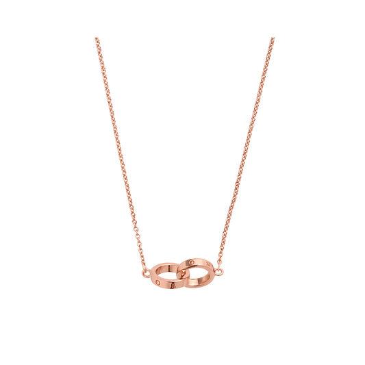 Interlink Necklace Rose Gold