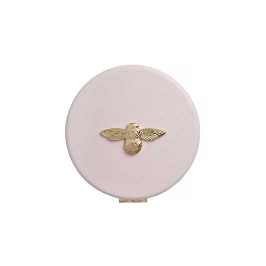 3D Bee Pink & Gold Compact Mirror
