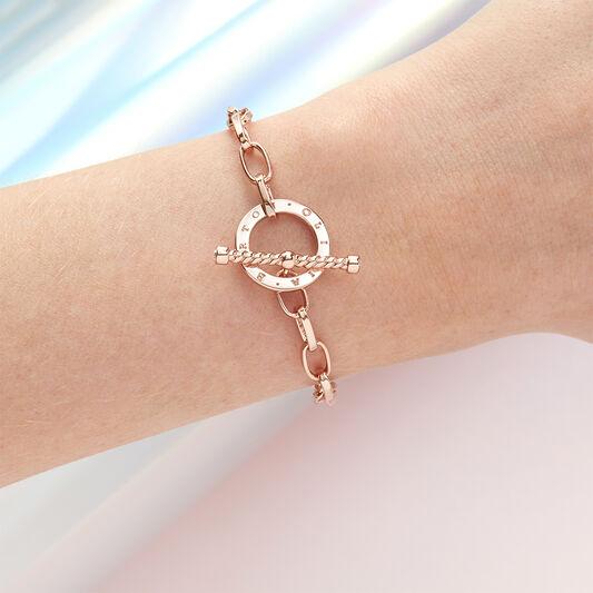 Bejewelled T-Bar Bracelet Rose Gold