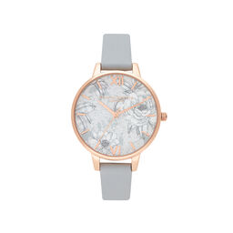 Terrazzo Florals Eco Light Gray & rose Gold