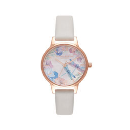 Dragonfly Thin Case Blush & Rose Gold Watch