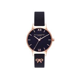 Vintage Bow Black & Rose Gold Watch