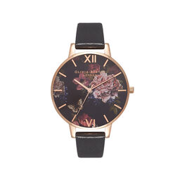 Dark Bouquet Black & Rose Gold Watch