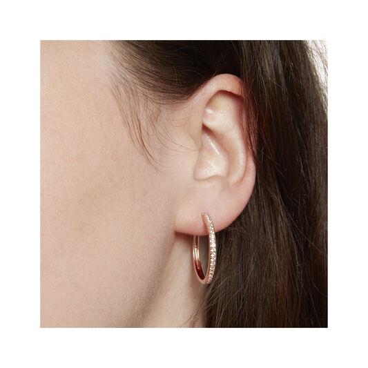 Hoop Earrings with White Topaz