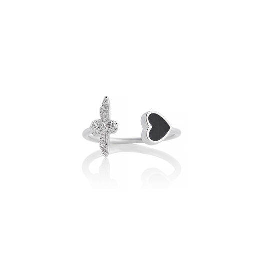Love Bug Ring Black and Silver