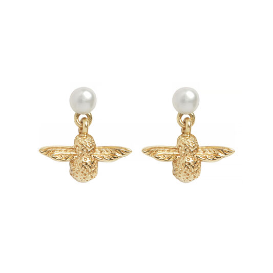 Olivia Burton Pearl Bee Earrings
