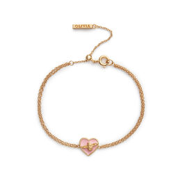 Love Bug Chain Bracelet Pink & Gold