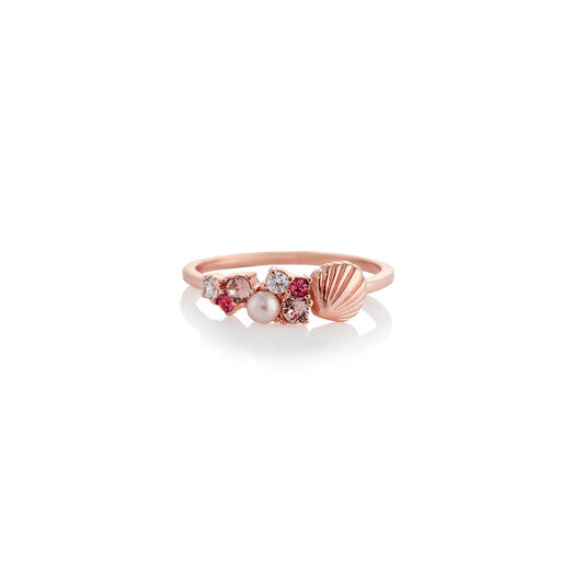 Under The Sea Shell Bubble Ring Rose Gold S