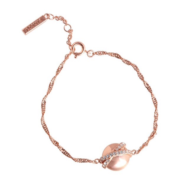Oversized Planet Rose Gold Twist Chain Bracelet