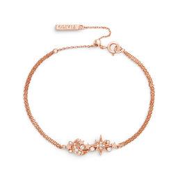 Celestial Rose Gold Cluster Chain Bracelet
