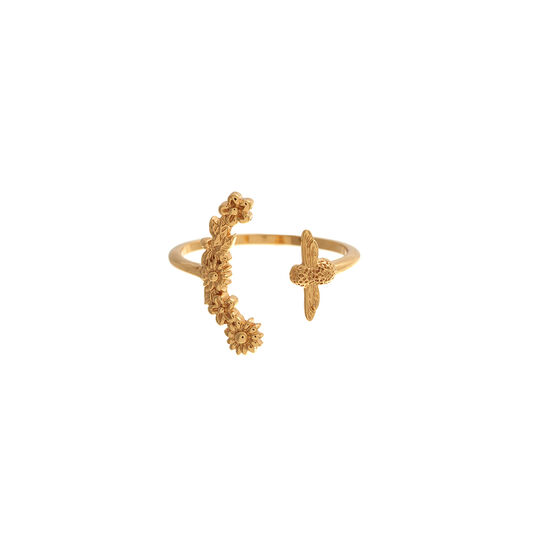 Olivia Burton Bee Blooms Ring Gold