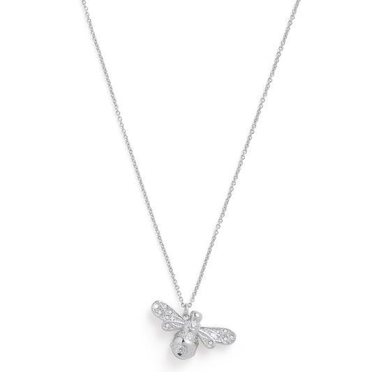Sparkle Bee Silver Necklace