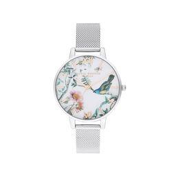 Painterly Prints Silver Mesh Watch