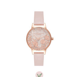 Semi Precious Rose Quartz Vegan Rose Sand & Rose Gold