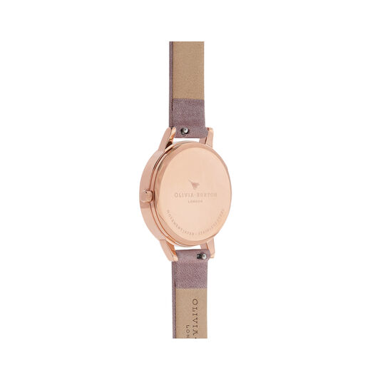 Peony Parlour Sunray Midi Dial Watch with Rose Suede