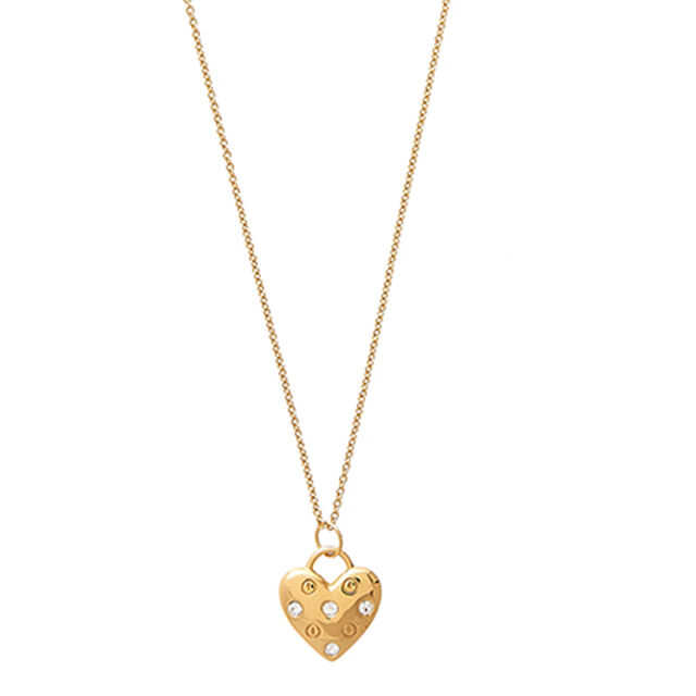 Classic Heart Gold Necklace